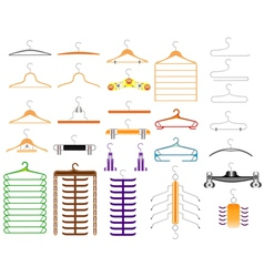 Hanger for clothes vector