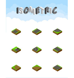 Isometric road set of unilateral downward vector