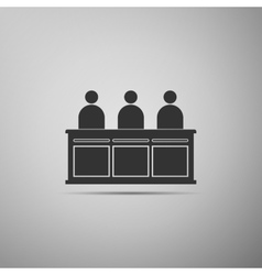 Jurors icon vector