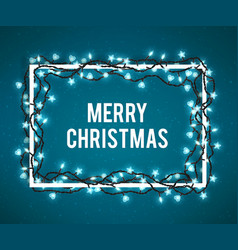 merry christmas poster vector image