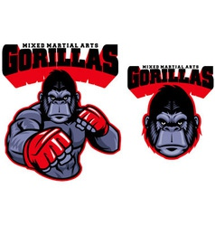 Mma fighter gorilla vector