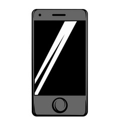 Modern smartphone icon cartoon vector