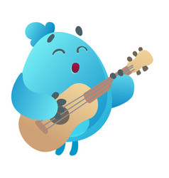 monster playing guitar vector image vector image