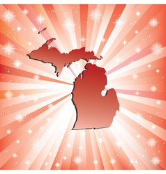 Red Michigan vector image