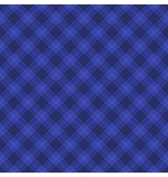 Seamless Blue Fabric Tartan Background vector image