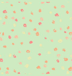 seamless green and yellow ink dots pattern vector image vector image