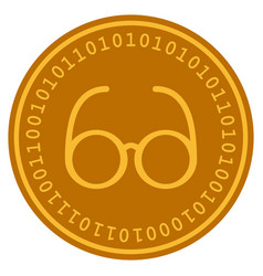 Spectacles digital coin vector