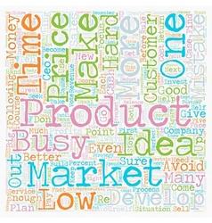 Ten entrepreneurial mistakes text background vector
