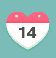 valentines day icon in the shape of a calendar vector image