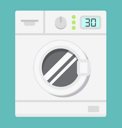 Washing machine flat icon household and appliance vector