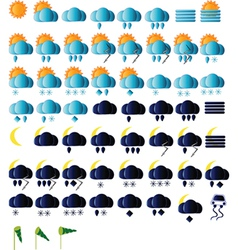 Weather Icons Collection vector image vector image