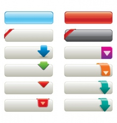 websiye buttons vector image