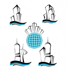 Buildings symbols vector