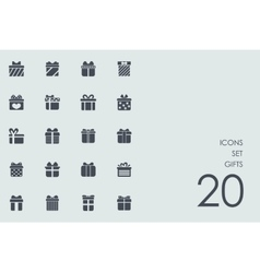 Set of gifts icons vector