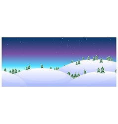 Fir trees snowcapped mountain vector