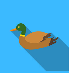 Duck icon in flat style isolated on white vector
