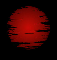 Red moon in dark vector