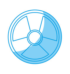Nuclear sign icon vector