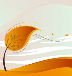desert and tree vector image