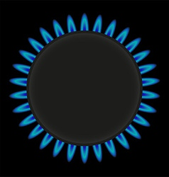 Burning gas ring stove vector
