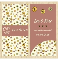 Template for invitation card vector