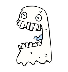 Comic cartoon gross ghost vector