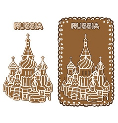 Cake russia st basil cathedral vector