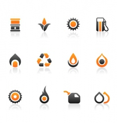 Fuel icons and graphics vector