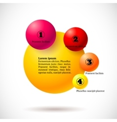 Infographics with group of flying balls vector