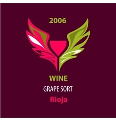 For wine grape special sort vector