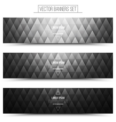 Gray web banners set vector