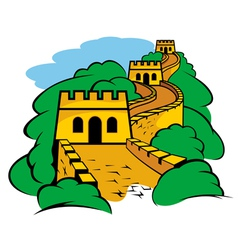 Chinese great wall vector