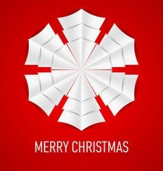 Snowflake Corner paper 11 vector image