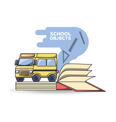 Back to school education concept vector