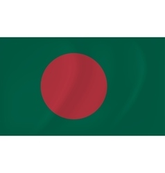 Bangladesh waving flag vector