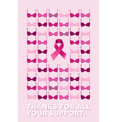 Breast cancer poster thanks for your support vector image vector image