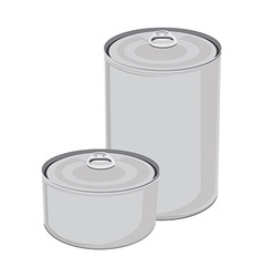 Canned food collection vector