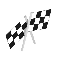 Chequered flags motor racing isometric 3d icon vector