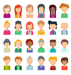 Colorful set of avatars in flat design vector