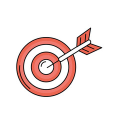 dart target board to strategy competition vector image