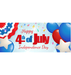 fourth of july independence day horizontal banner vector image