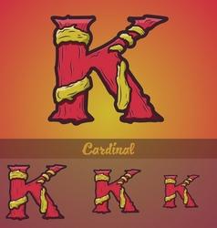 Halloween decorative alphabet - k letter vector
