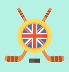 Hockey in United Kingdom vector image