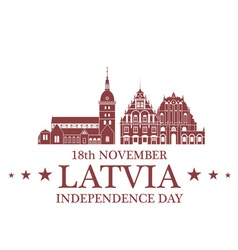 Independence day latvia vector