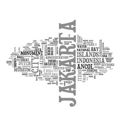 Jakarta text background word cloud concept vector