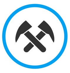 Job hammers rounded icon vector