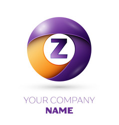 Letter z symbol in the colorful circle vector