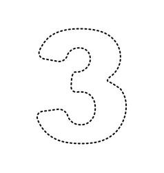 Number 3 sign design template element vector