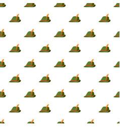 Oktoberfest tirol hat pattern vector