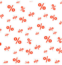 Percent seamless business pattern promotion vector